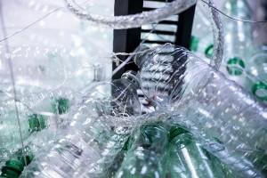 atelier construction de l'exposition à partir d'objets recyclés
